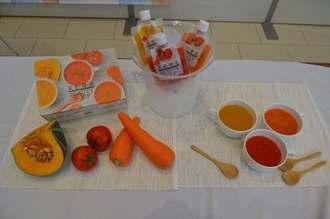 規格外野菜を使用し、添加物や保存料、着色料などを一切使わずに作った野菜スープ「菜・色・健・美 BEAUTY SOUP」