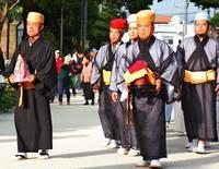 琉球国王にささげる水 首里城で伝統の奉納行列