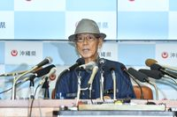 翁長知事の記者会見、コメント全文 埋め立て承認撤回を表明