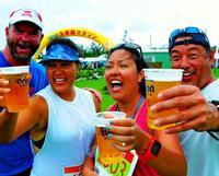 ルーツの島を快走「幸せ」、米国から出場した姉妹 久米島マラソン