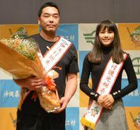 巨人・阿部選手が伊江村観光大使 自主トレでつながり「第2の故郷」と笑顔