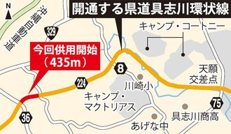 開通する県道具志川環状線