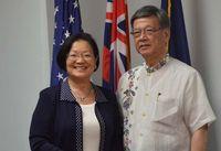 翁長雄志沖縄知事、ハワイで2議員と会談