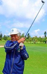 「今後も皆でゴルフをしたい」と話す知花成昇さん=読谷村宇座・残波ゴルフクラブ