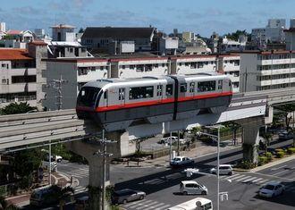 (資料写真)沖縄都市モノレール・ゆいレールの車両