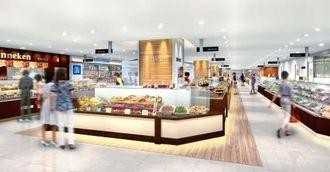 リウボウ地下1階・総菜売り場の改装イメージ(リウボウインダストリー提供)