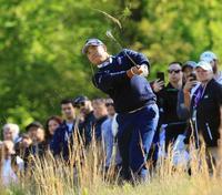 米プロゴルフ、松山英樹は17位 ケプカと7打差、ウッズ51位