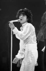 ステージで歌う西城秀樹さん=1979年11月、日本武道館
