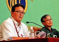 沖縄ライバル2紙が異例の共同会見 報道圧力発言を批判
