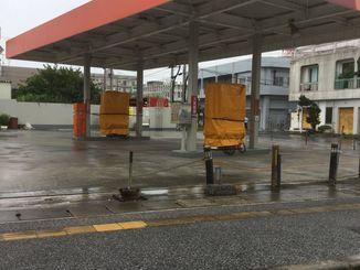 宮古島市は台風8号の影響で各地で停電となっている=10日午後