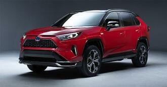 トヨタ自動車が米国で発売予定の「RAV4・プライム」(同社提供・共同)