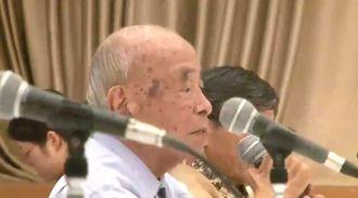 意見陳述する参考人の大田昌秀元沖縄知事