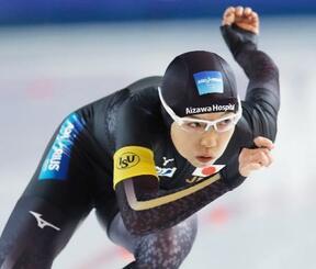 女子500メートル 37秒07で優勝した小平奈緒=スタバンゲル(共同)