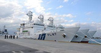 「尖閣専従体制」を担う海上保安庁の巡視船=石垣港