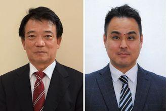 (左から)比嘉孝則氏と天久朝誠氏