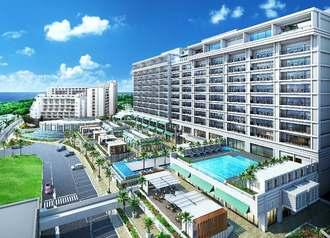 前田産業ホテルズが開業する「マハイナ オキナワン ビレッジ」(同社提供)