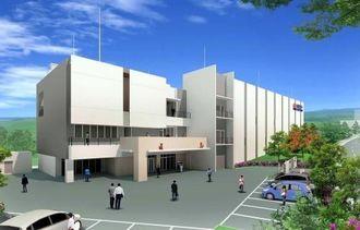 とみぐすくネットワークセンターの完成イメージ図(沖縄セルラー電話提供)