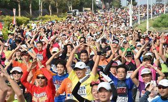 第31回NAHAマラソンの様子=2015年12月