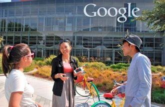 グーグル社を訪れた琉球フロッグスのメンバーら=16日(現地時間)