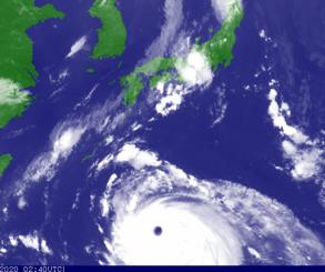 気象衛星の画像(気象庁HPより)