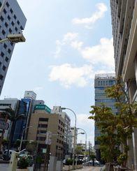 GW初日爽やかな良い天気です 久茂地のオフィス街は閑散としています