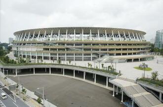 東京五輪メインスタジアムの国立競技場