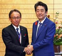 辺野古反対、安倍首相に伝達 玉城デニー知事 民意を強調