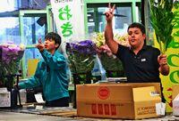 シーミーに県産菊/消費拡大キャンペーン