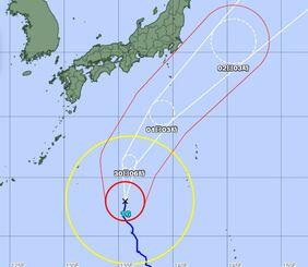 29日午前6時現在の台風経路図(気象庁HPより)