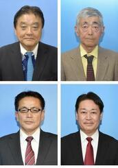 上段左から河村たかし氏、太田敏光氏、下段左から押越清悦氏、横井利明氏