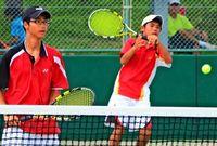 沖縄中学総体:テニス団体男子 伊良波2冠