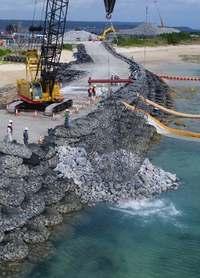 新たに2カ所の護岸着手 辺野古新基地 土砂投入へ工事加速