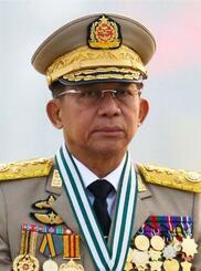 ミャンマーのミン・アウン・フライン国軍総司令官(ロイター=共同)