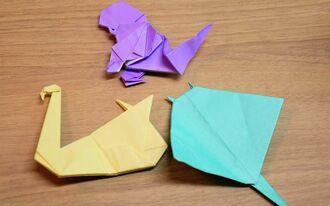 與座さんの折り紙作品の一部