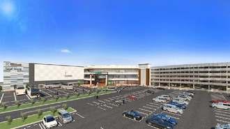 大型商業施設「iias(イーアス)沖縄豊崎」の外観イメージ(大和ハウス工業提供)