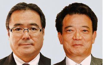 新垣邦男氏(左)、比嘉孝則氏