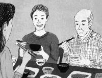 [また明日](238)/再会の章(48)/群ようこ・作/丹下京子・画