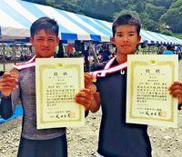 山田・喜友名組 K2 200メートルで3位/カヌー日本ジュニア