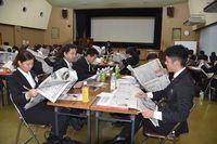[ビジネスに新聞を タイムスNIB]効率よく地域の情報得て仕事に活用 金秀グループの新入社員研修<br />