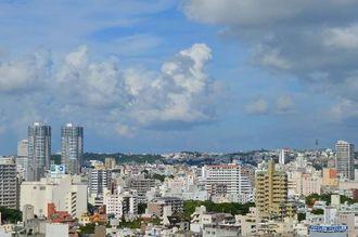 今日は新都心方面を撮影してみました。積乱雲がちらほら