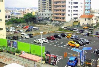 嘉新セメントが購入した旧國映館跡地=2014年6月