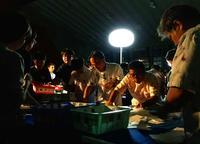 「こんなの初めて」暗がりで投開票 台風24号の停電で沖縄知事選