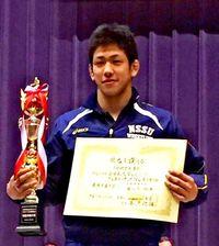 屋比久翔平が3連覇 2大会V3は史上初 レスリング全日本大学グレコ選手権