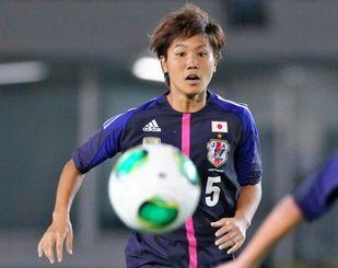 なでしこメンバーとしてナイジェリア戦に出場した高良亮子=9月22日、長崎県立総合運動公園陸上競技場