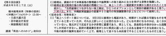 「橋本龍太郎首相が米側提案の海上ヘリポート案を『価値がある』と発言した」と記載する県作成の「総理・知事会談の概要」