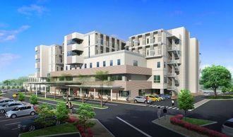 中頭病院移転新築完成予想図