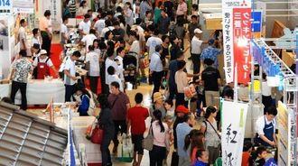 最終日も家族連れなど大勢の来場者でにぎわったトータルリビングショウ=宜野湾市の沖縄コンベンションセンター