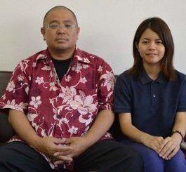 呼び掛け人の安慶名達也さん(左)と、事務局を担う具志堅いずみさん=沖縄タイムス中部支社
