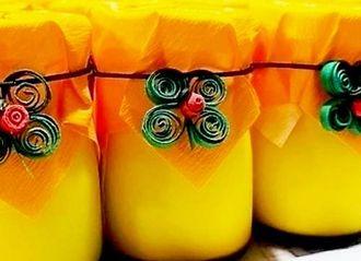 人気のかぼちゃプリン(帆風提供)