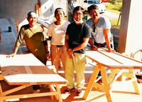 サバニ建造、海人の息吹 舟各部にしまくとぅば名称 職人ら名護で公開
